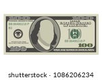 one hundred dollar bill. 100... | Shutterstock .eps vector #1086206234