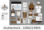 corporate identity template set ... | Shutterstock .eps vector #1086215804