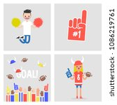 collection of sport images.... | Shutterstock .eps vector #1086219761