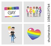 collection of lgbtq images.... | Shutterstock .eps vector #1086219764