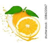 grapefruit with splash isolated ... | Shutterstock . vector #108622067