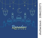 ramadan kareem template or copy ... | Shutterstock .eps vector #1086223271
