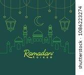 ramadan kareem template or copy ... | Shutterstock .eps vector #1086223274