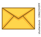 envelope icon. cartoon...