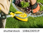 string grass trimming equipment.... | Shutterstock . vector #1086230519