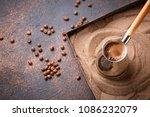 traditional turkish coffee in... | Shutterstock . vector #1086232079