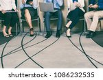 cropped view of business people ...   Shutterstock . vector #1086232535