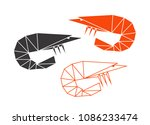 abstract shrimp. isolated... | Shutterstock .eps vector #1086233474