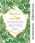 wedding invite invitation menu... | Shutterstock .eps vector #1086234131