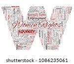 vector conceptual women rights  ... | Shutterstock .eps vector #1086235061