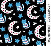 fairytale cute seamless pattern.... | Shutterstock .eps vector #1086239297