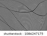 abstract op art pattern. lines...   Shutterstock .eps vector #1086247175