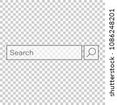 search bar vector ui element...