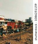 a slum in bandra city | Shutterstock . vector #1086251159