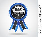 black   blue label. 100 ... | Shutterstock .eps vector #108625175