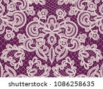 seamless red lace background... | Shutterstock . vector #1086258635