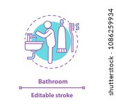 personal hygiene concept icon.... | Shutterstock .eps vector #1086259934