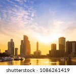 cityscape and landscape of... | Shutterstock . vector #1086261419