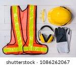 standard construction safety... | Shutterstock . vector #1086262067