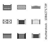 doorway icons set. simple set...   Shutterstock . vector #1086271739
