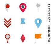 manifestation icons set. flat... | Shutterstock . vector #1086271961