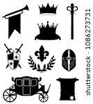 king royal golden attributes of ... | Shutterstock .eps vector #1086273731