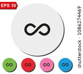 infinity sign flat round...   Shutterstock .eps vector #1086274469