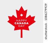 canada day vector illustration. ... | Shutterstock .eps vector #1086279929