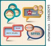 four various bubbles for design.... | Shutterstock .eps vector #108628295