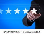 five stars  5  rating with a... | Shutterstock . vector #1086288365