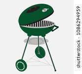 bbq party banner grill icon... | Shutterstock .eps vector #1086294959