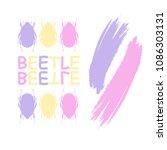 beetle. set of colorful beetles ... | Shutterstock .eps vector #1086303131