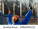 a high school track and field...   Shutterstock . vector #1086304124
