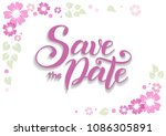 illustration with calligraphy... | Shutterstock .eps vector #1086305891
