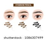 eyebrow pencil before and after ... | Shutterstock .eps vector #1086307499
