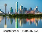 the classic dallas  texas... | Shutterstock . vector #1086307661