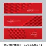 red abstract banner. vector... | Shutterstock .eps vector #1086326141