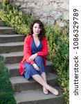 sexy beauty girl   dressed in...   Shutterstock . vector #1086329789