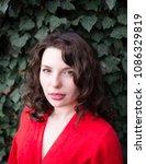 fashion brunette portrait in...   Shutterstock . vector #1086329819