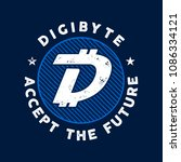 dgb cryptocurrency coin sign.... | Shutterstock .eps vector #1086334121