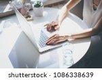 beautiful business women...   Shutterstock . vector #1086338639