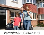 portrait of a family | Shutterstock . vector #1086344111