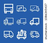 truck related set of 9 icons... | Shutterstock .eps vector #1086345437