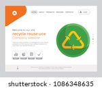 quality one page recycle reuse... | Shutterstock .eps vector #1086348635