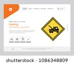 quality one page towing website ... | Shutterstock .eps vector #1086348809