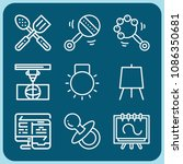 tools related set of 9 icons... | Shutterstock .eps vector #1086350681
