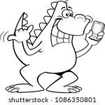 black and white illustration of ... | Shutterstock .eps vector #1086350801