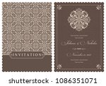 wedding  invitation  with... | Shutterstock .eps vector #1086351071