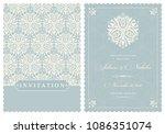 wedding  invitation  with... | Shutterstock .eps vector #1086351074