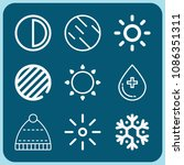 weather related set of 9 icons... | Shutterstock .eps vector #1086351311